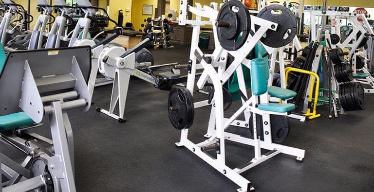 weight training area of gym in Cincinnati