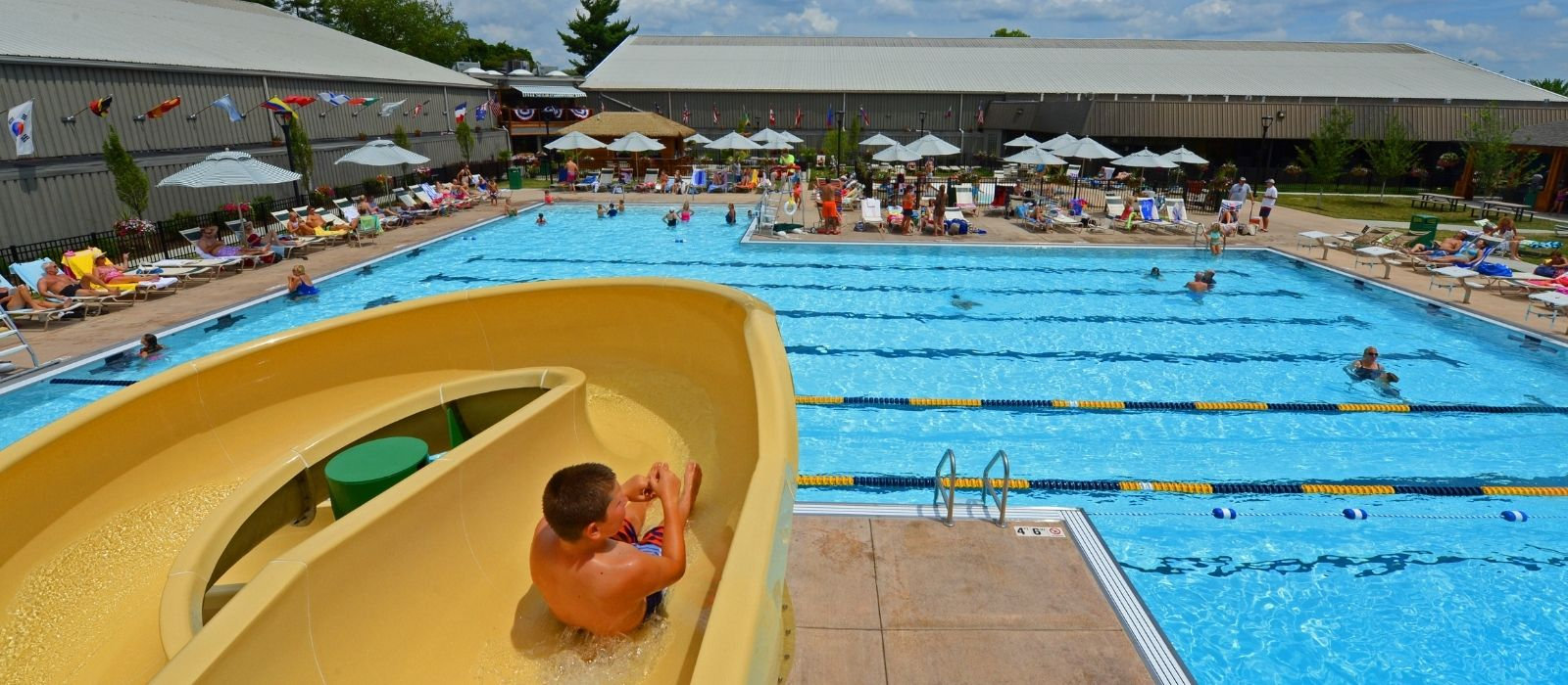 the club at harper's point outdoor pool with slide