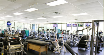 cardio machines in a fitness facility